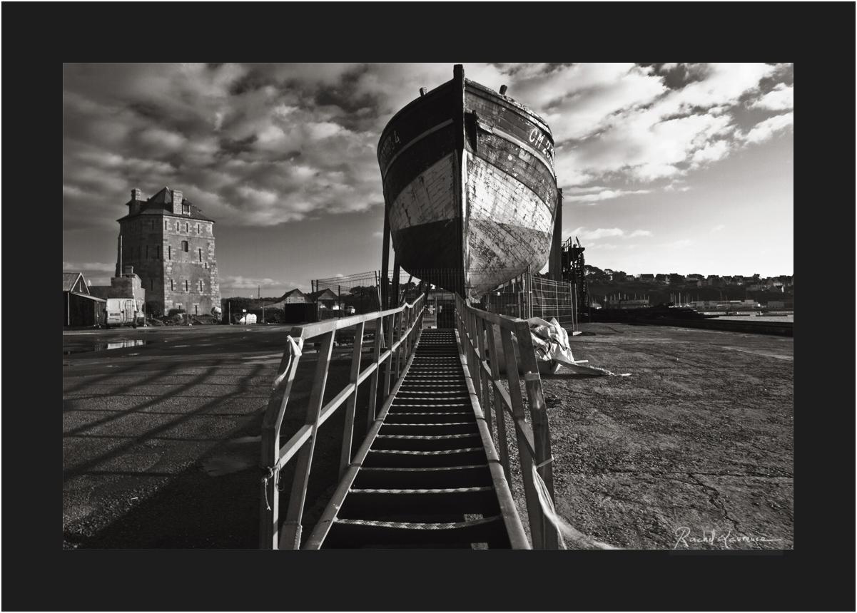Camaret, petit chantier naval, la Tour Vauban