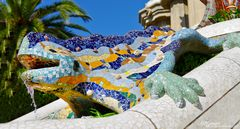 Camelion von Antoni Gaudi im Park Güell