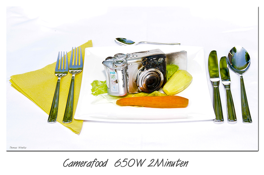 Camerafood 650W 2Minuten