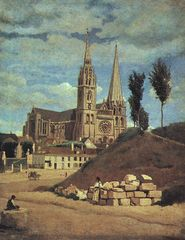 Camille Corot Kathedrale von Chartres