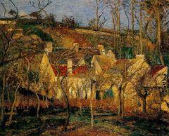 Camille Pissarro Die roten Dächer