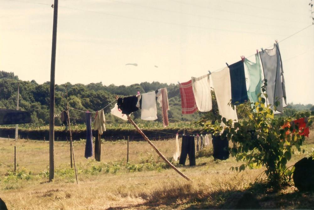 Camino - und nach dem Wandern als erstes Wäsche waschen . . . .