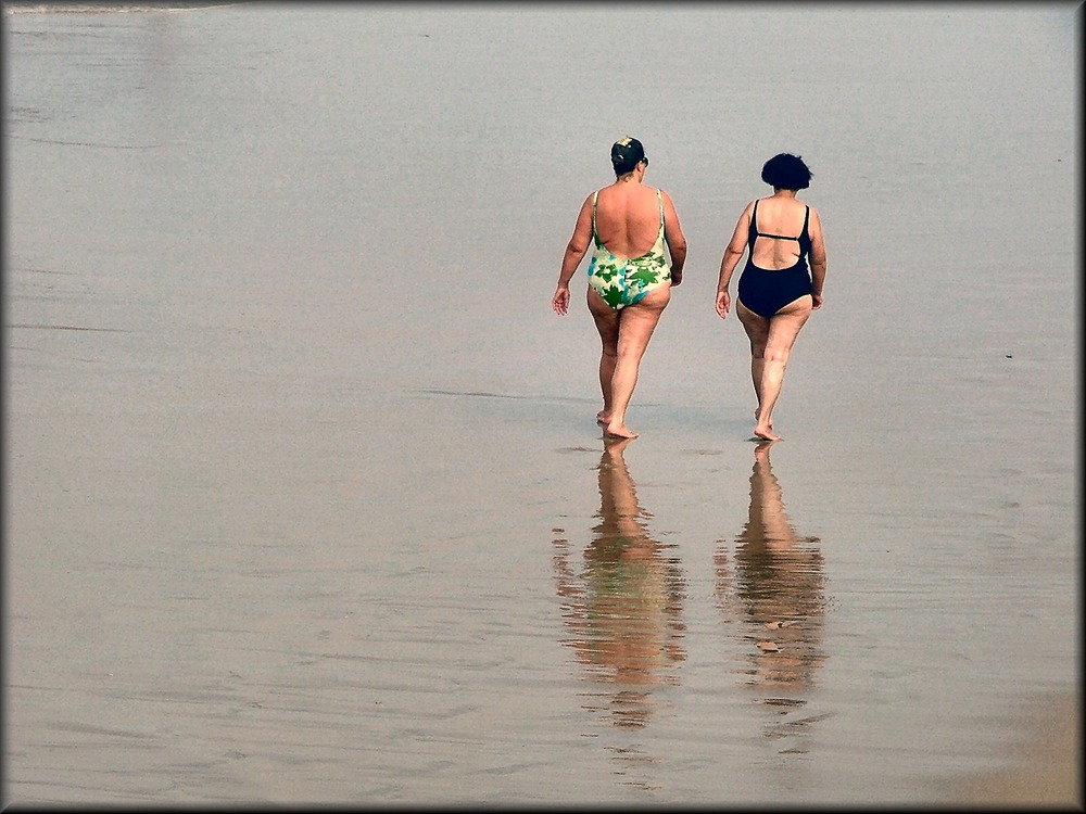 Camminando sulla bassa marea