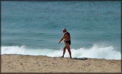 ...camminando sulla sabbia...