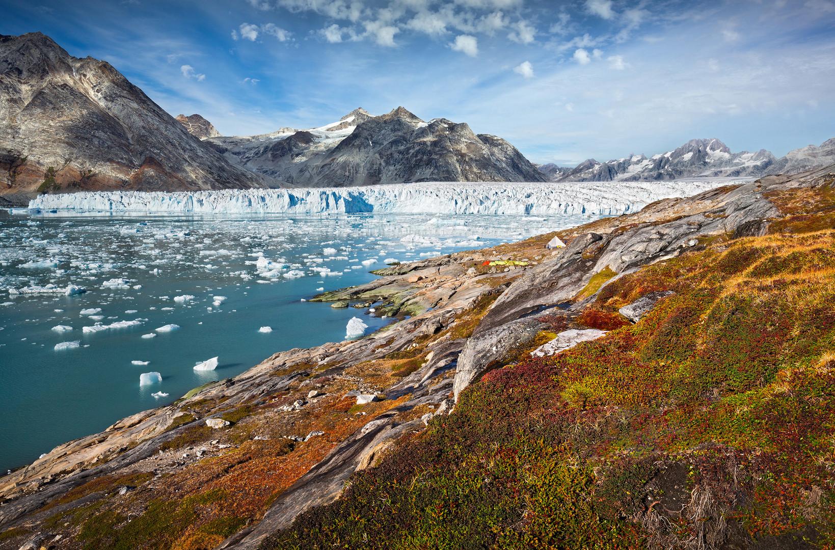 Camp am Gletscher
