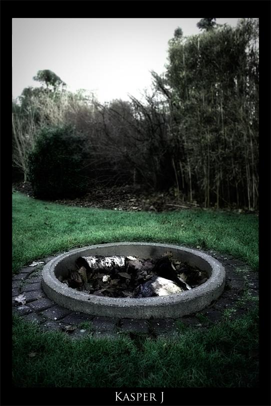 Campfire in garden