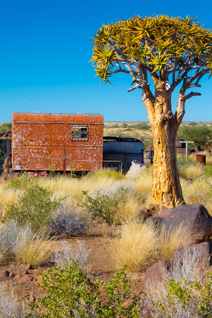 """Camping Area in Namibia - """"Checkin"""""""