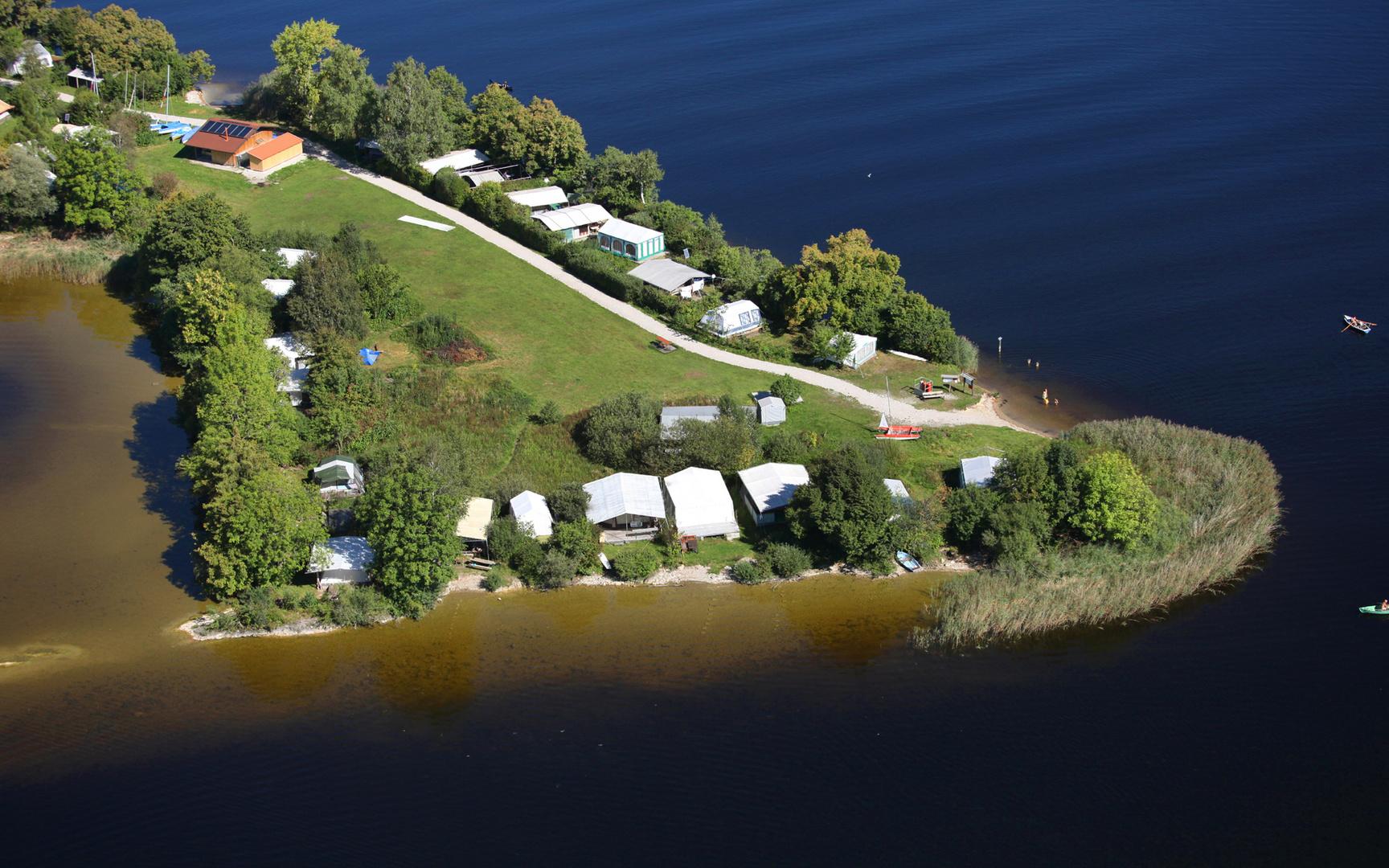 Campinginsel Buchau / Staffelsee / Seehausen1
