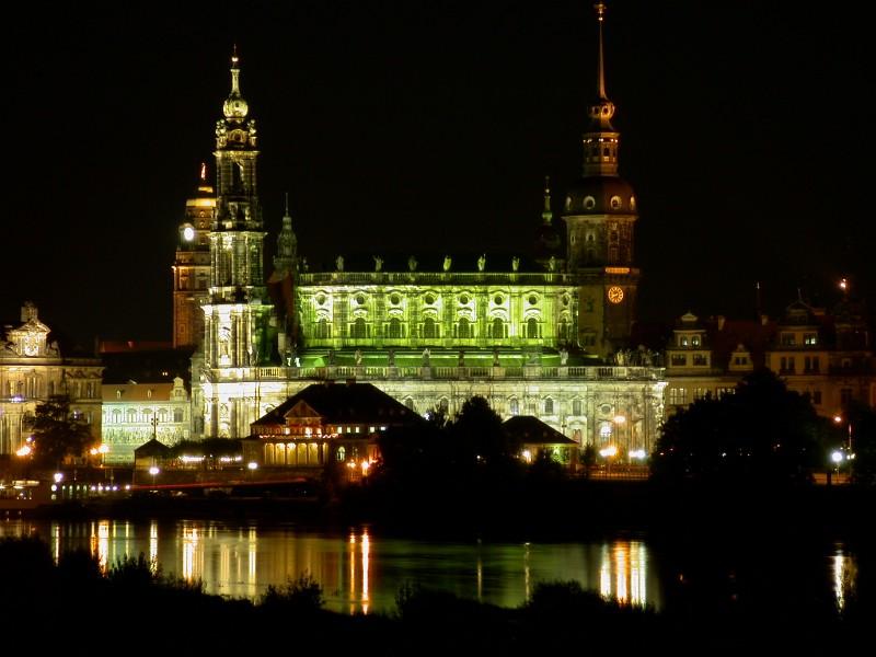 Canalettoblick bei Nacht - Dresden