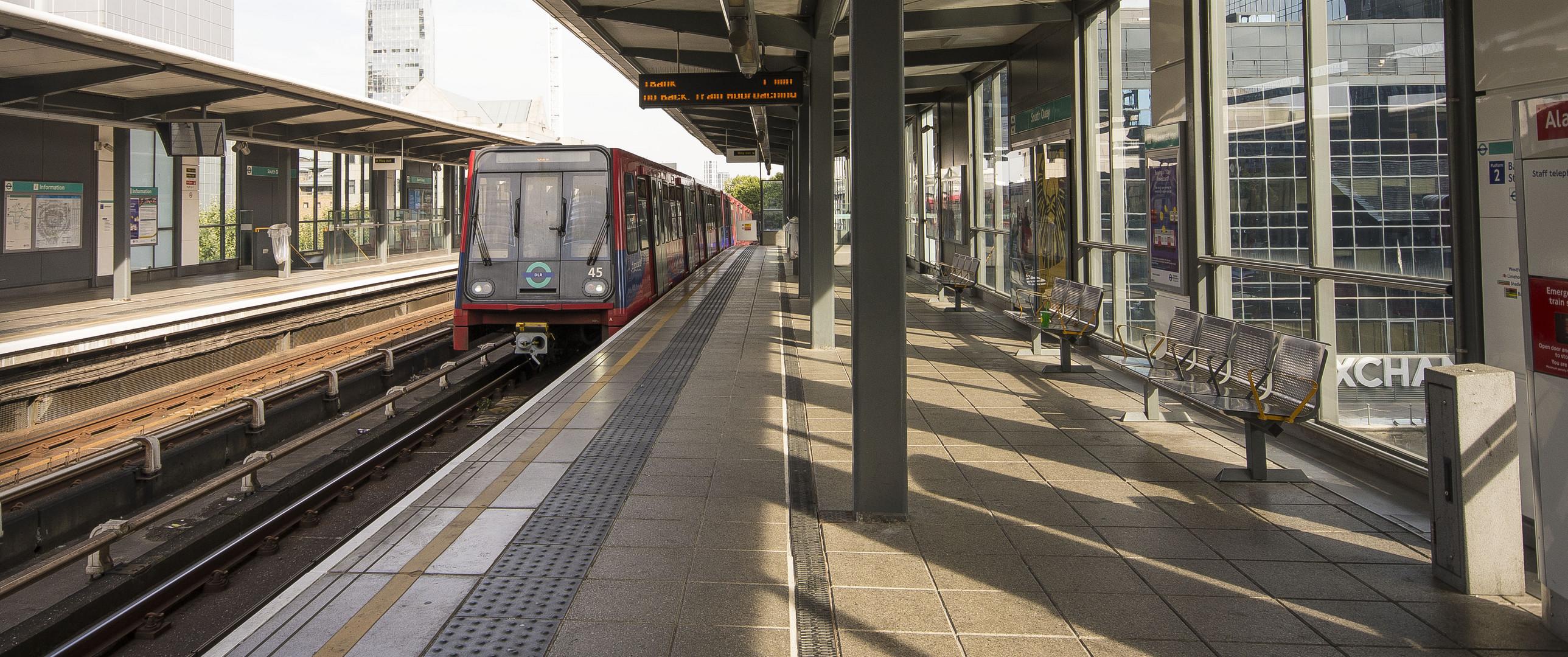Canary Wharf - South Quai DLR Station - Dockland Light Railway