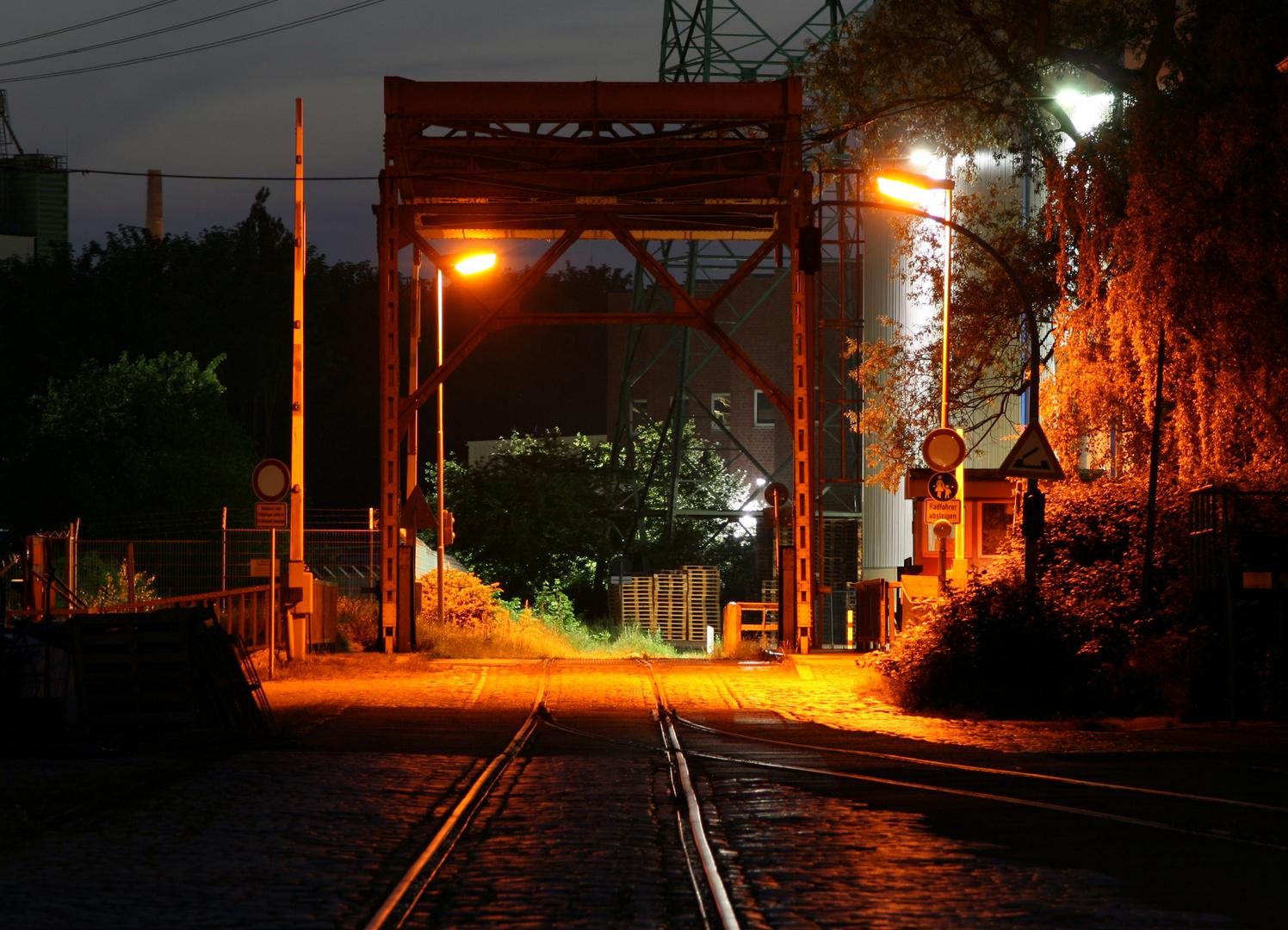 Cannel Harburg bei Nacht