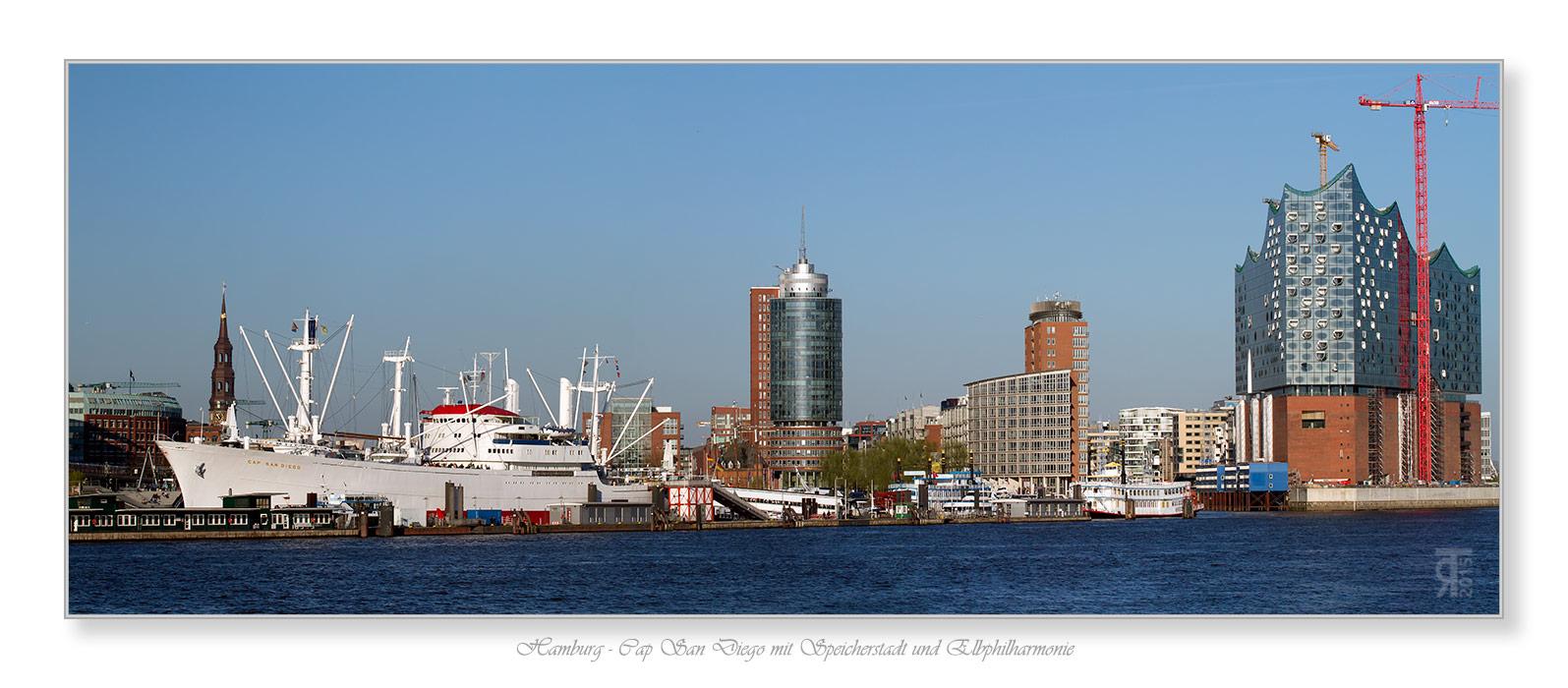 Cap San Diego bis Elbphilharmonie Foto & Bild | deutschland, europe ...