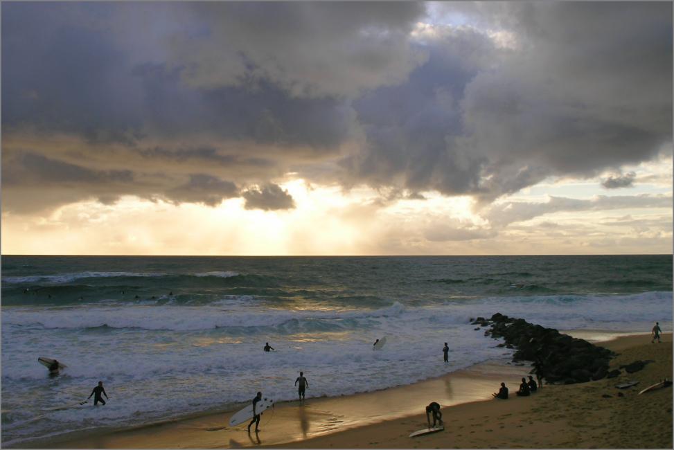 Capbreton - Abends am Strand