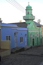 Cape Town, Bo Kaap, Street with mosque