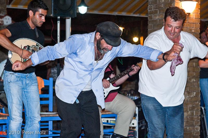 Captain Jiannis dancing / Samos, Greece, July 2010