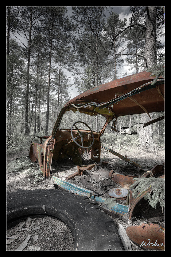 Car Cemetary in Ryd, Sweden