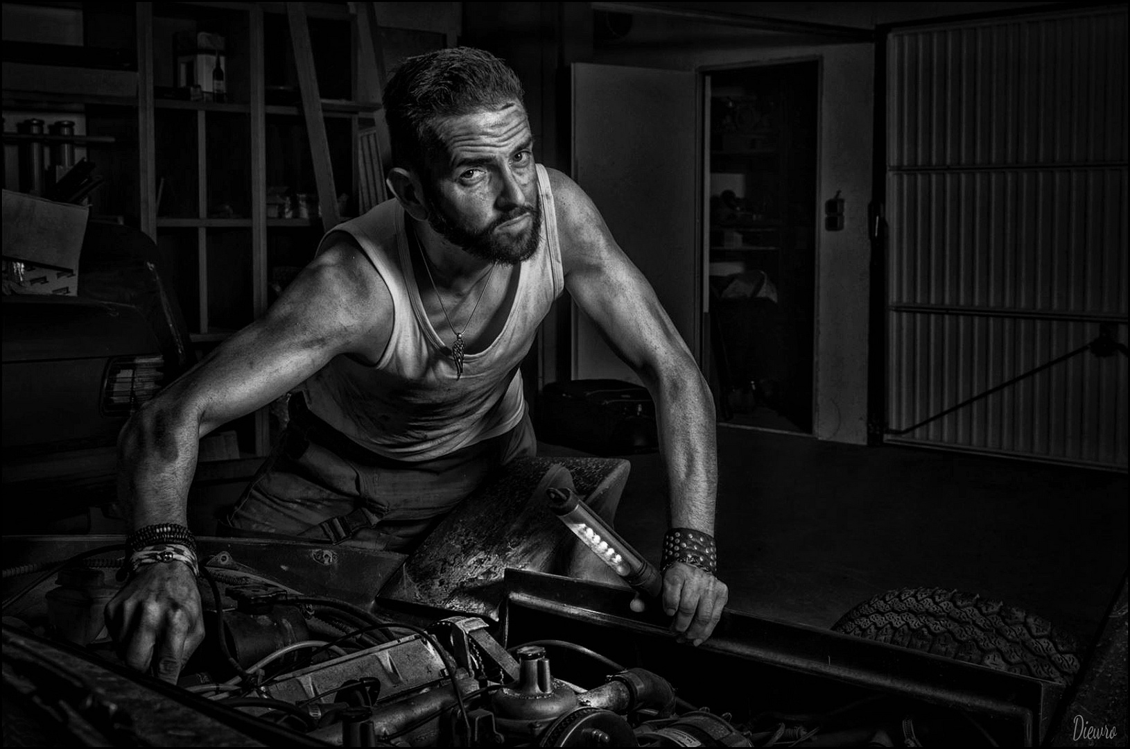 Car mechanic man