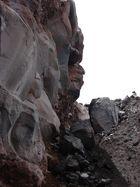 Cara Inca en una de las faldas del Volcán Antisana