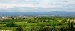 Carcassonne in der Landschaft