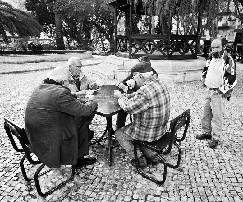 Card game in the park