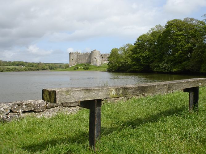 Carew Castle in South West Wales.