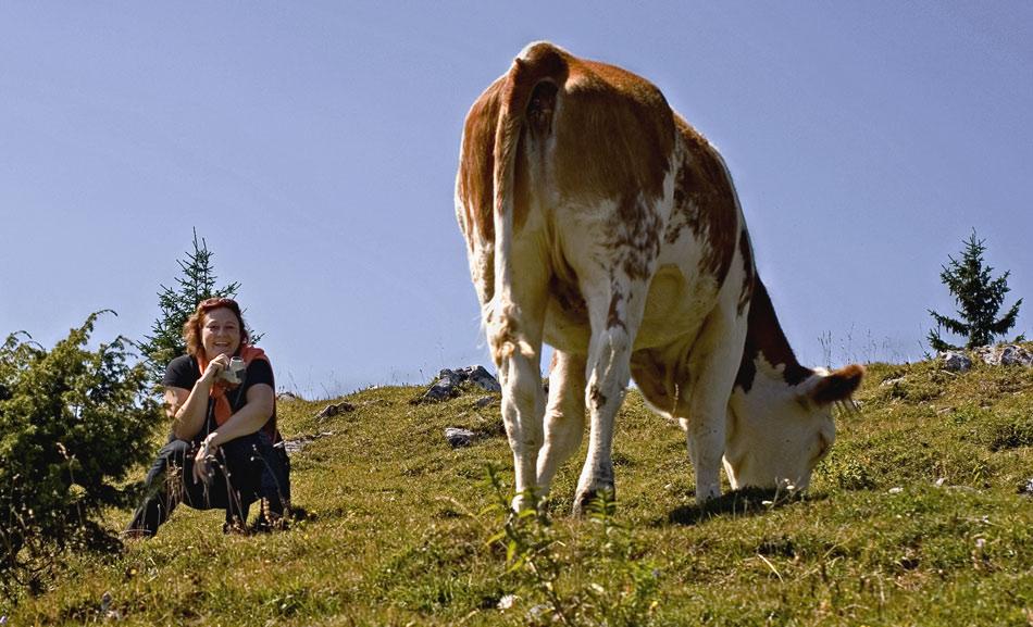 """Cari freut sich über diese """"schicke Kuh"""" ..."""