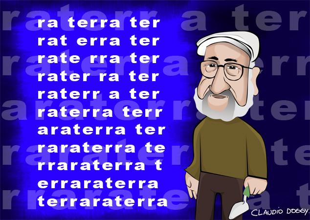 Caricatura Décio Pignatari -Claudio Doggy - Santa Felicidade - Curitiba - pr -photoshop - dibujo