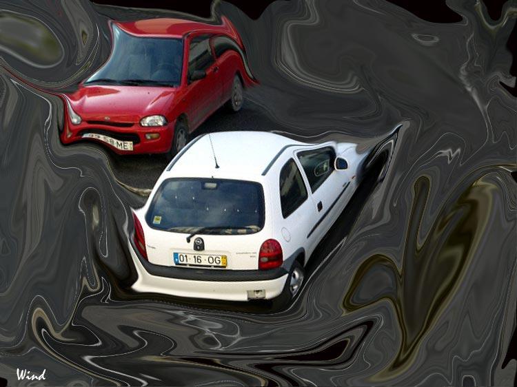 Cars in a quagmire