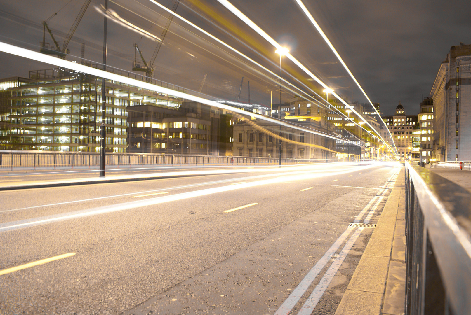 Cars' Lights on the London Bridge