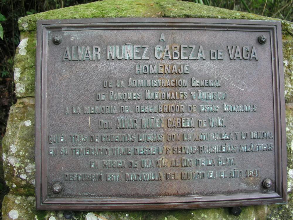 CARTEL DE LAS CATARATAS DE IGUAZÚ DE ALVAR NUÑEZ CABEZA DE VACA