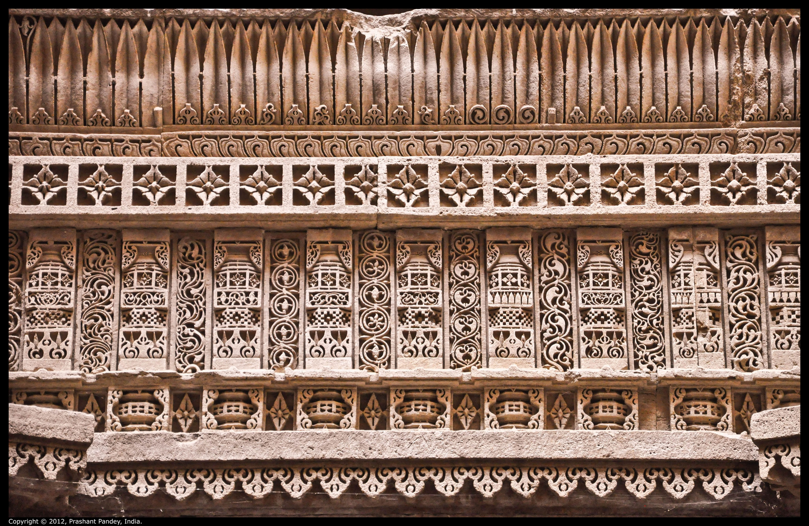 Carvings on wall...