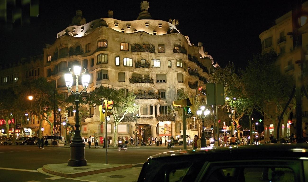 Casa Mila' bei Nacht