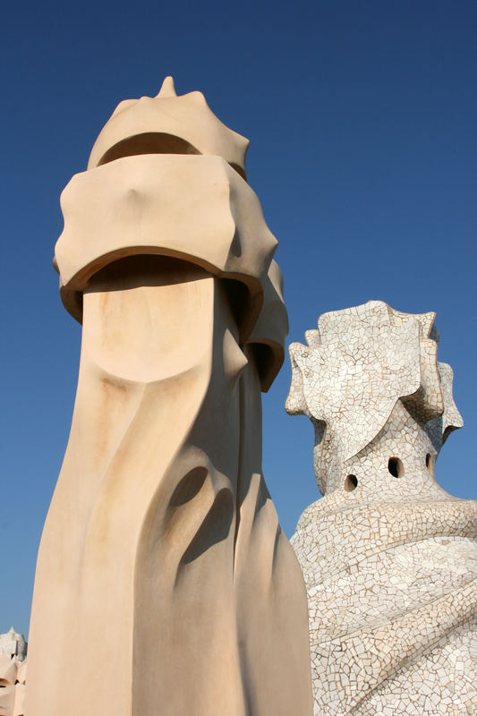 Casa Mila Chimney Antoni Gaudi Barcelona