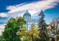 Casino in Blau