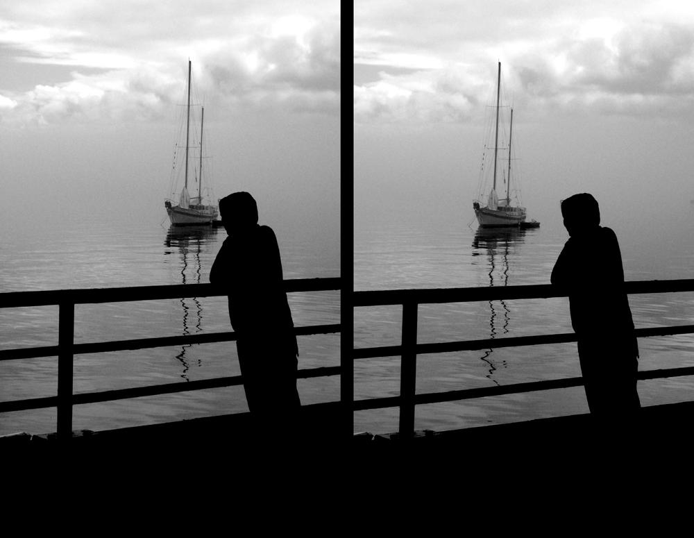 Caspar David Friedrich am windstillen Pazifik