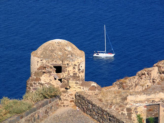 Castelsardo-Blick von der Festung