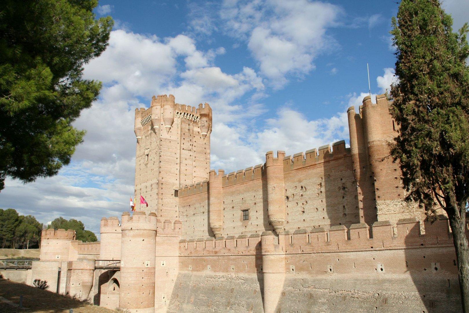 Castillo de la Mota en Medina del Campo (Valladolid) , una fortaleza casi inexpugnable