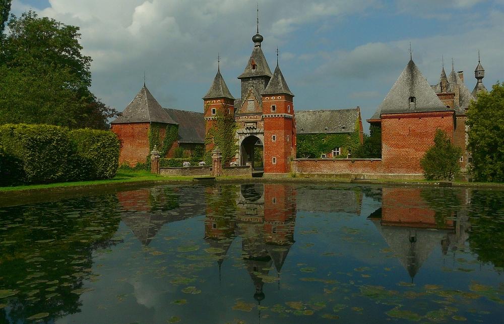 Castle 'the Commandery' at Sint-Pieters-Voeren (Belgium)