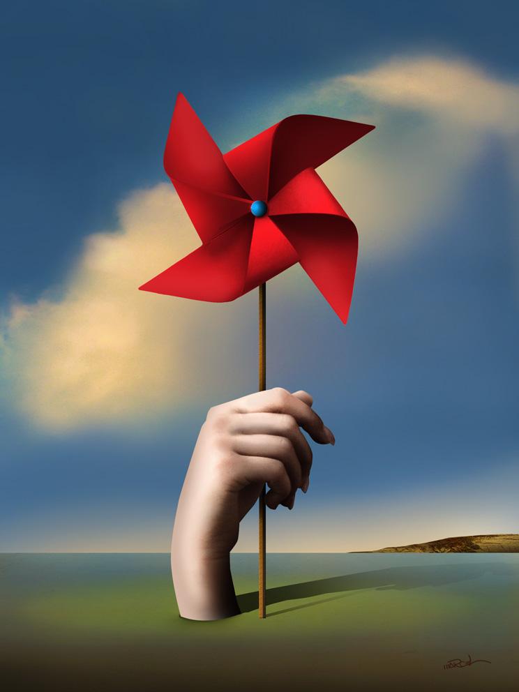 Cata-vento Vermelho.