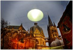 Cathedral in Aachen (Window reflection)