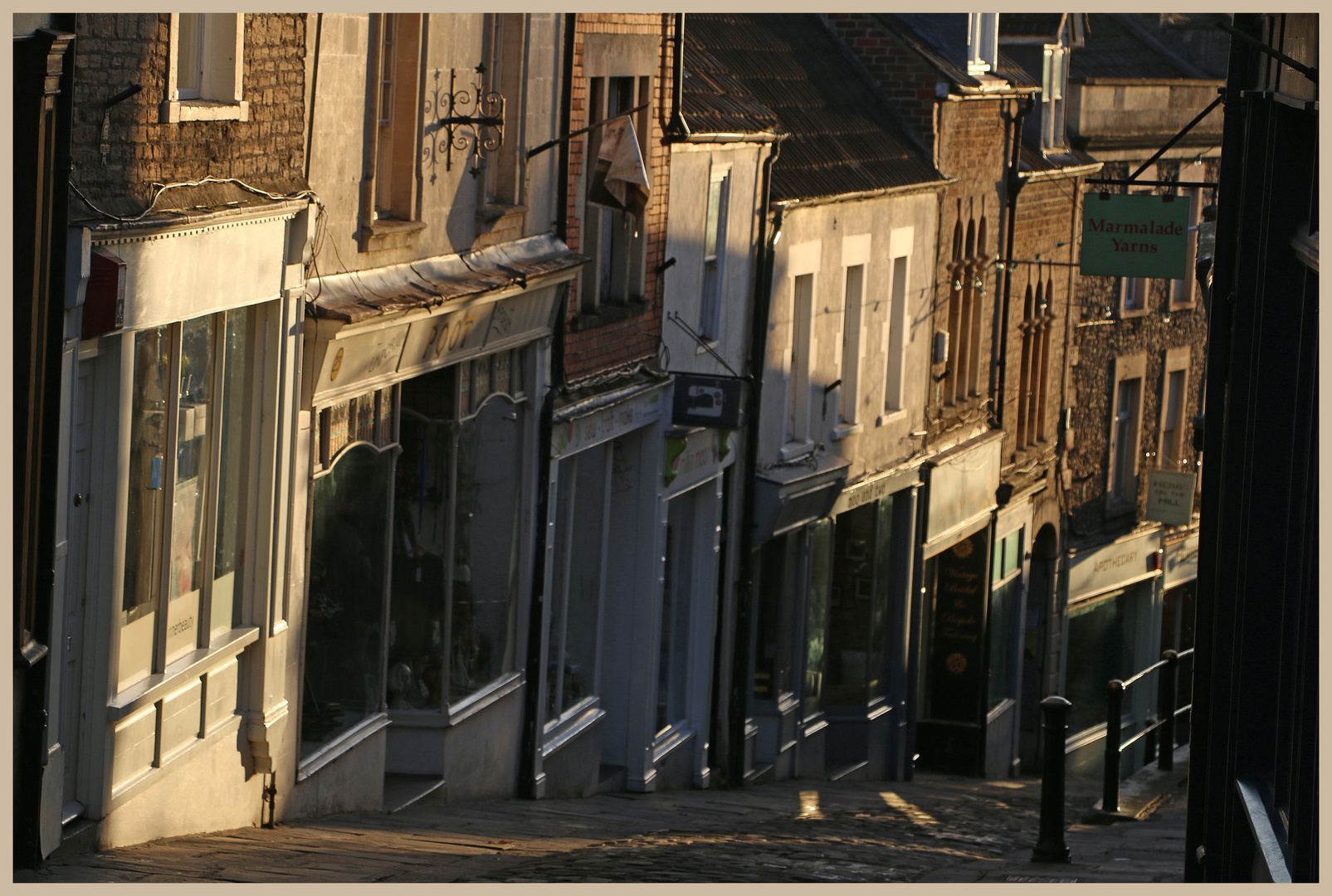 catherine Street Frome early morning 14