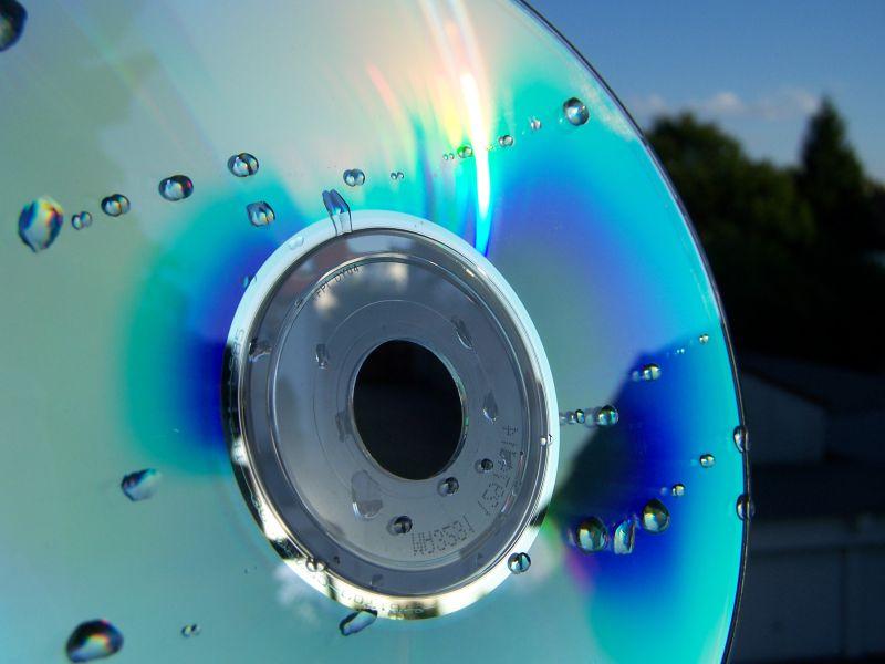 CD mit Tropfen
