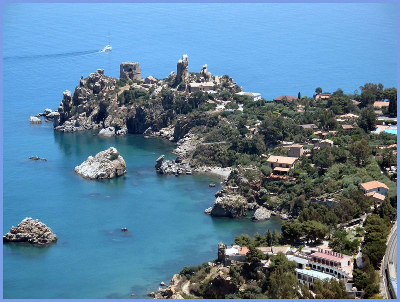 Cefalu Blick von La Rocca noch ein mal