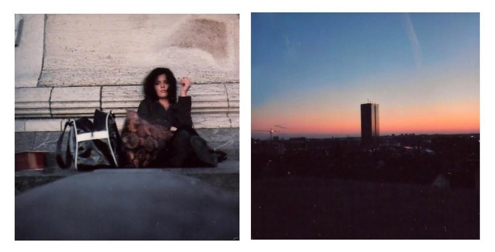 Céline et le coucher de soleil