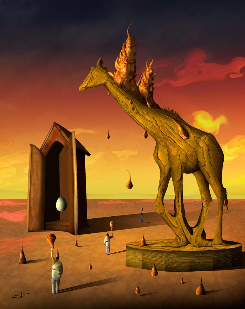 Cena com Girafa