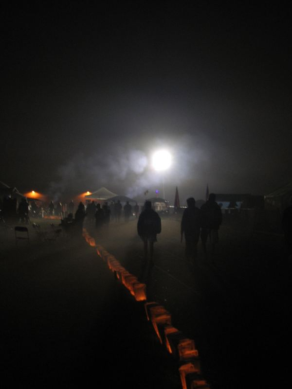 ceremony in the fog