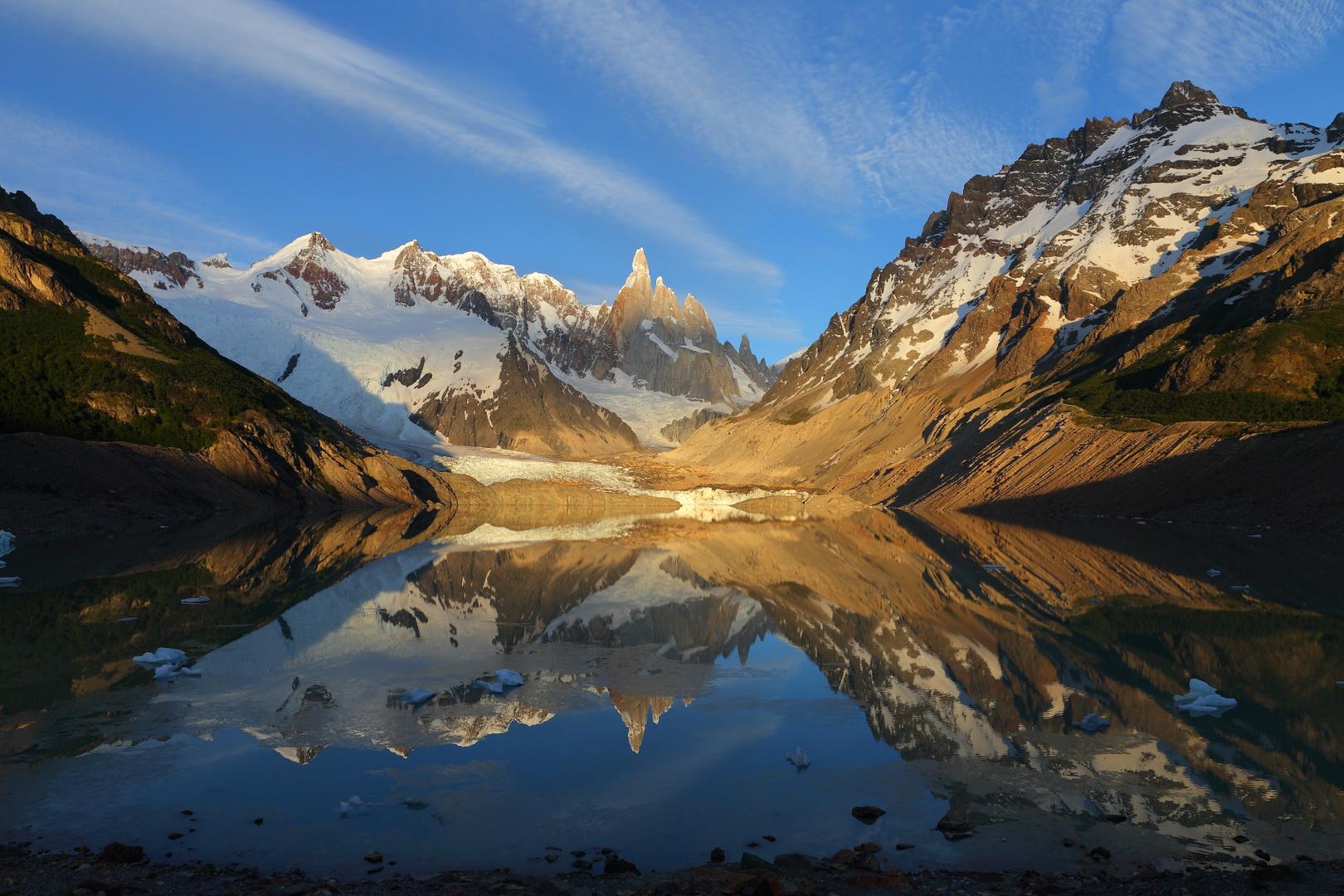 Cerro Torre after sunrise, El Chaltén - Patagonia - Argentina