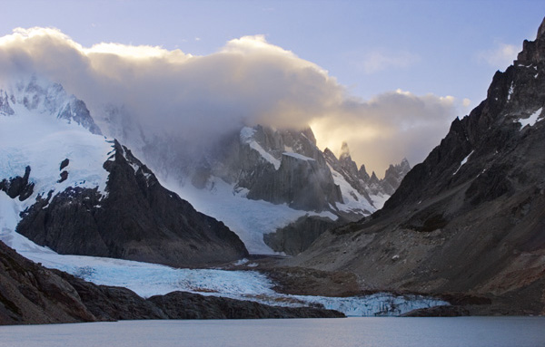 Cerro Torre Hidden By Clouds