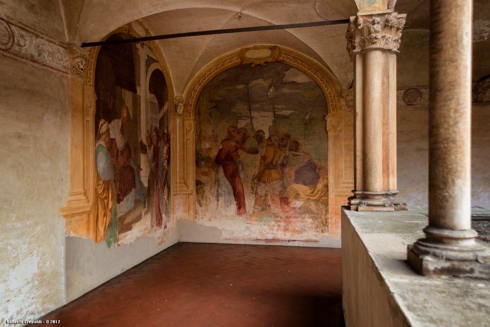 Certosa di Pavia, affreschi del chiostro