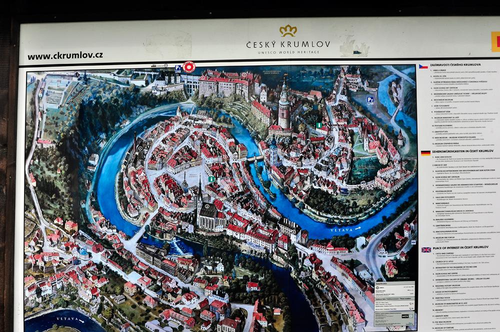 Ceský Krumlov - Tschechien - Stadtplan